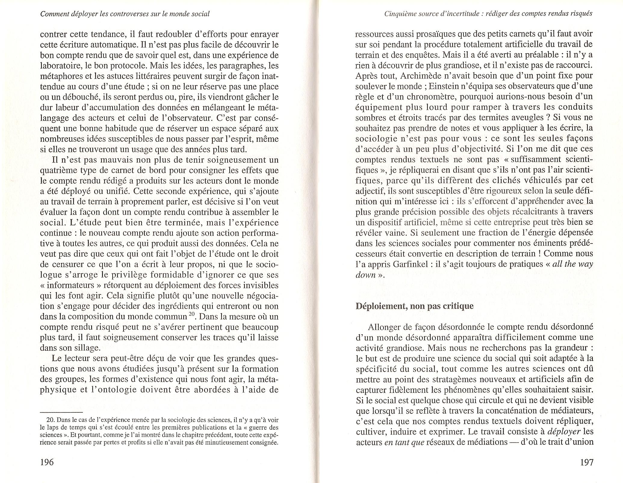 Ouvrir La Recherche Avec Bruno Latour Art Langage Apprentissage